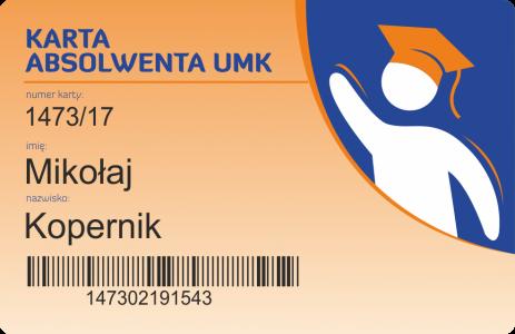 Przykładowa Karta Absolwenta UMK