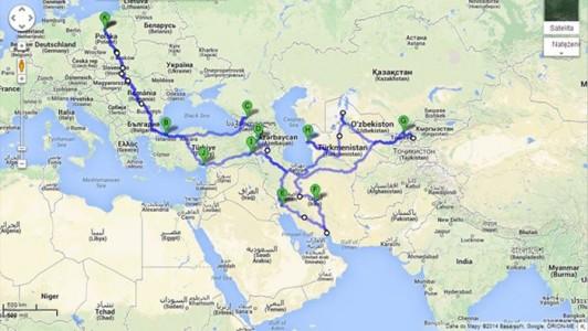 Trasa wyprawy 2014